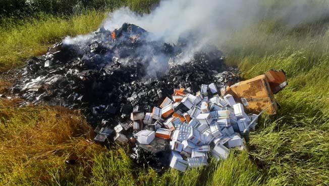 सातारा : कास परिसरात जैविक कचरा जाळला